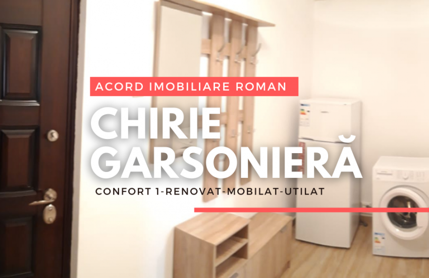 Chirie garsoniera confort 1 Roman