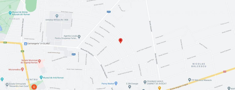 Teren cu casa 525 mp Roman